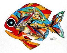 artist, J. Vincent Scarpace  title, Seven Fish