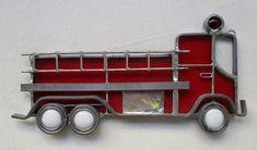 STAINED GLASS RED FIRE TRUCK SUNCATCHER | eBay