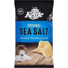 Kettle Original Sea Salt Chips Salted Potatoes, Online Supermarket, Snack Recipes, Snacks, Sunflower Oil, Potato Chips, Vegan Friendly, Sea Salt, Kettle