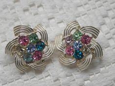 Beautiful earrings.  Vintage Sarah Coventry.