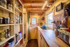 Best tiny house kitchen and small kitchen design ideas tiny house kitchen tiny house kitchen floor Narrow Kitchen, Cozy Kitchen, Rustic Kitchen, Kitchen Ideas, Kitchen Layout, Kitchen Designs, Kitchen Pantry, Kitchen Storage, Open Pantry
