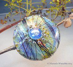 Artist handmade lampwork bead glass  Fall  by manuelawutschke