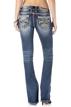 fc7060326f31c $200 Rock Revival Women's BINX B202 BOOT CUT JEANS 24 25 26 27 28 29 30