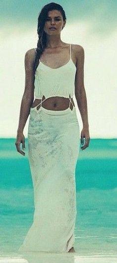 #summer #dashboutique #outfits | White Maxi Dress