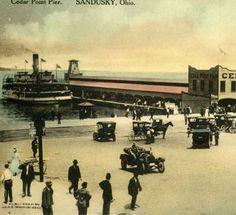 Cedar Point Pier, Sandusky, OH Marblehead Ohio, Sandusky Ohio, Cedar Point, Roller Coasters, Lake Erie, Amusement Parks, Buckeyes, Vintage Images, Cleveland
