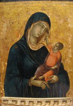 Duccio di Buoninsegna (1255/1260-1319) — The Madonna and Child, c.1300 : The Metropolitan Museum of Art,  New York.  USA (687x1000)