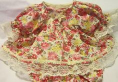 """Roses Print Dress/Bloomers fits 16-18"""" Cabbage Patch/Berenguer Babies  #Handmadeinmysmokefreehome"""