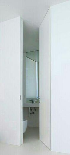 Filo muro marco y bisagras técnicas para diseño y funcionalidad. Egominimal. Bathroom Medicine Cabinet, Bathrooms, Design, Walls, Bathroom, Full Bath, Bath