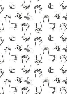 귀여운 손 드로잉 패턴들