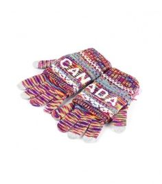 Pink & Multi Canada 2 In 1 Adult Glove Winter Collection 2016
