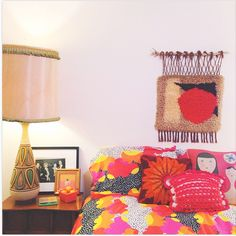Elizabeth Spiridakis OlsonIt's no secret we're obsessed with AFAR creative director Elizabeth Spiridakis Olson's color-soaked home, but this psychedelic snap of her guest room has us seeing hearts. That bedding is beyond.