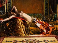 Herrmann von Point, Oil Painting with Odalisque, Late
