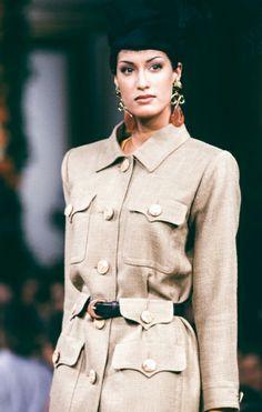 Yasmeen Ghauri for YSL Haute couture été 1993.