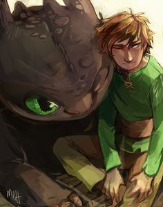Httyd Toothless and Hiccup