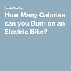 How many calories will I burn cycling?