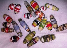 Upcycle Magazine Crafts   Upcycled magazine beads   DIY  Crafts