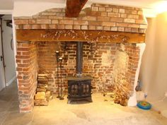 Search over a Million properties for sale and to rent from the top estate agents and developers in the UK - Rightmove. Wood Burner Fireplace, Fireplace Fender, Cosy Fireplace, Fireplace Lighting, Cottage Fireplace, Inglenook Fireplace, Fireplace Ideas, Exposed Brick Fireplaces, Border Oak