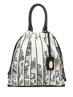 ETRO Drawstring with Logo Tag Placed Printed with Leather Base Handbag