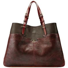 Jerome Dreyfuss Women's Maurice Tote ($819) ❤ liked on Polyvore featuring bags, handbags, tote bags, tote handbags, brown tote purse, tote hand bags, brown purse and handbags tote bags