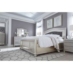 Signature Design by Ashley Coralayne Silver Panel Headboard - 18923795 - Overstock - Big Discounts on Signature Design by Ashley Headboards - Mobile