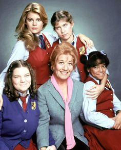 The Facts of Life is an American sitcom that originally ran on the NBC television network from August 24, 1979, to May 7, 1988. A spin-off of the sitcom Diff'rent Strokes, the series' premise focuses on Edna Garrett (Charlotte Rae) Also--Lisa Whelchel  Kim Fields  Mindy Cohn  Molly Ringwald (1979-80)  Nancy McKeon (1980-88)  Mackenzie Astin (1985-88)  George Clooney (1985-87)  Cloris Leachman (1986-88)  Sherrie Krenn (1987-88)