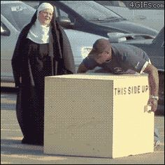 From a previous pinner: Funny Pranks In GIFs Haha theres another person under the box Funny Shit, Funny Cute, The Funny, Funny Stuff, Super Funny, Funny Things, Memes Humor, Funny Memes, Jokes