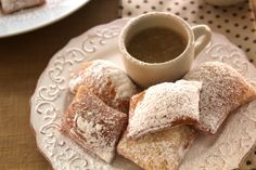 Quintessential N'awlins! This dish is a play on the traditional beignets and Cafe au Lait. Here the Cafe au Lait flavor is found in the rich Creme Anglaise Sauce.