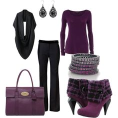 Purple & Black. love this color combo. always have and those shoes are a must have