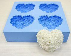 HR029 First Love Catch Soap Mold soap mold silicone di Kudosoap