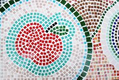 Mosaiktisch, Mosaictable, table, Terassentisch, Mosaik, Mosaic Monster, Red Apple, Bunt, Sweet Home, Crafts, Mosaic Stones, Projects, Deco, Creative