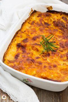 Lasagne con zucca, prosciutto e mozzarella Crepes, Quiche, I Chef, Best Italian Recipes, Fat Burning Foods, Mozzarella, World Recipes, Pasta Recipes, Lasagna