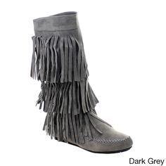 Add some fun and flirt to your wardrobe. Featuring cute and chic 3-layers fringe, side zipper for easy wear, smooth lining and lightly cushioned footbed offering comfort step.You will draw all the att