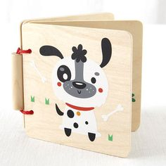 Your little bookworm will love this sturdy read, which features adorable animal illustrations printed on maple plywood.