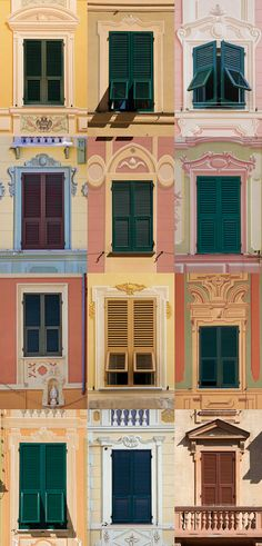 Windows in Santa Margherita Ligure, Genoa , province of genoa Liguria region Italy