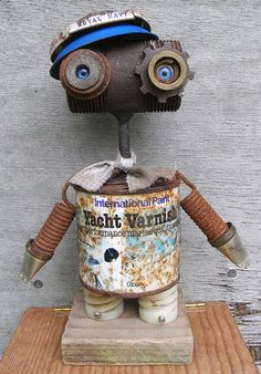 Heavenly metal art projects Contact us today Diy Robot, Arte Robot, Recycled Robot, Recycled Art, Repurposed, Found Object Art, Found Art, Metal Art Projects, Metal Crafts
