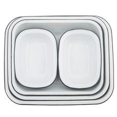 Falcon Enamelware Bake Set | Pigeon Grey -  Bloomsbury Store - 1