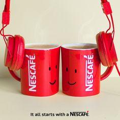 Décidément, nos mugs NESCAFÉ partagent vraiment tout ! #Cafe #Musique