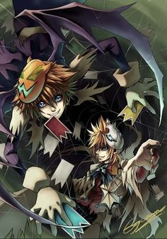Halloween-Sora-and-Roxas. I LOVE the Halloweentown costumes! <3