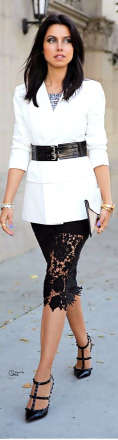 Black and white street style http://www.epicee.com