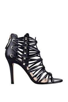 Leday Strappy Single-Sole Sandals | GUESS.com $120 nude, black, white & grey