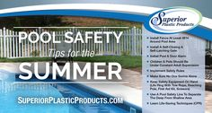 Turn your dream outdoor living space into a reality with Superior Plastic Products full line of Vinyl Railing, Fencing, & Specialty Products. Safety Rules, Safety Tips, Vinyl Picket Fence, Vinyl Railing, Door Alarms, Animals For Kids, Outdoor Living, Swimming, Summer