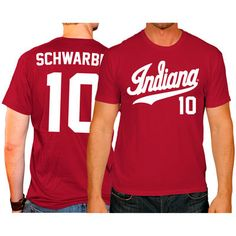 f7cabc2a19c Kyle Schwarber Indiana Hoosiers Original Retro Brand Baseball Name   Number  T-Shirt - Crimson