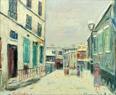 Impasse trainée sous la neige, à Monmartre (Dead-End Street in the Snow), circa 1935, Maurice Utrillo, oil on canvas, Arkansas Arts Center Foundation Collection: Anonymous Loan.