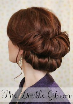 The Freckled Fox : Holiday Hair Week: The Double Gibson - I sincerely doubt I could do this with my hair, but it is pretty