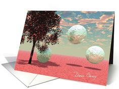 Peach Fantasy � Teal and Apricot Retreat card