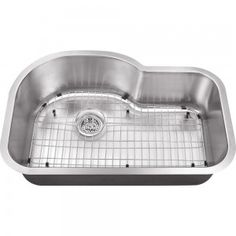 All-in-One Undermount Stainless Steel 30x19x9 0-Hole Single Bowl Kitchen Sink