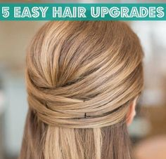 Try a new look with just a few bobby pins and hair elastics.