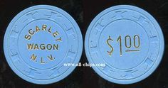 #LasVegasCasinoChip of the Day is Rare $1 Scarlet Wagon 1st issue you can see here http://www.all-chips.com/ChipDetail.php?ChipID=18402 #LasVegas #CasinoChip