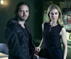 In a recent interview, the two stars of Syfy's '12 Monkeys,' Aaron Stanford and Amanda Schull, discuss the problems with time travel and how the series is not like the movie that it's based on.
