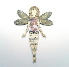 Dragonfly Fairy Bookmark Novelty Bookmark Fairy by JuliaPeculiar